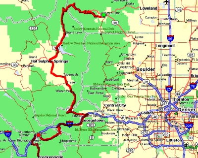 Us 34 Heads West From Estes Park And Climbs Rapidly Into Rocky Mountain National Park The Climb Includes Enough Switchbacks To Make Sure You Re Awake